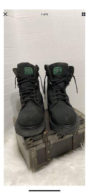 Work Wear Wrangler Mens Blacksteel toe oil resistant work boots Boots US Size6.5 for Sale in Dearborn, MI
