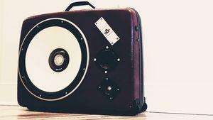 Vintage Suitcase Boombox Speaker System by ReSpeak for Sale in Sterling, VA