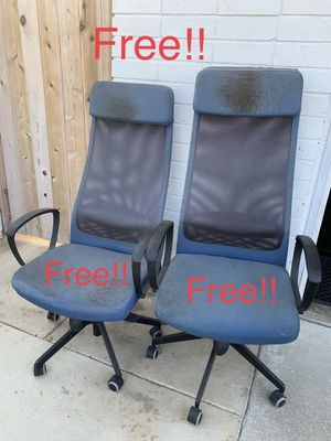 FREE!! Curbside Office chairs. NO Holds! for Sale in HUNTINGTN BCH, CA