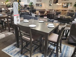 5-Piece Counter Height Dining Set, Grey for Sale in Westminster, CA