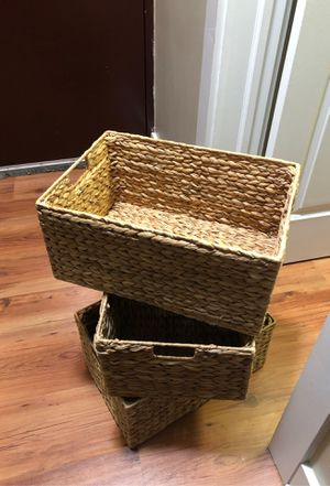 3 rectangular baskets for 6 dollars for Sale in Chicago, IL