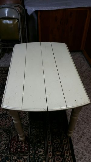 Old antique painted oak 5 legged table for Sale in Uniontown, OH