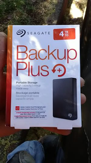 Seagate 4tb back up plus brand new never opened for Sale in Fullerton, CA