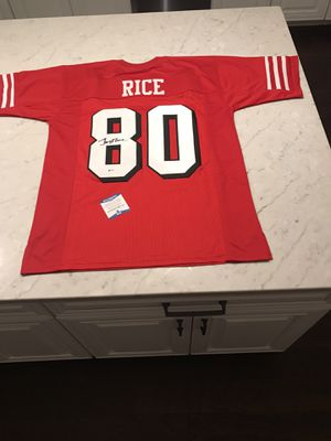 Jerry Rice Autographed Jersey w/Beckett COA for Sale in Westminster, MD