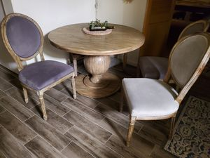 World Market dining table and chairs with an extra bench! for Sale in San Diego, CA