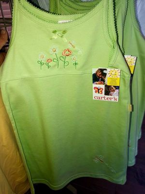 New w/ tags girls 2T, 3T, & 4T lime green flower & dragonfly toddler dress (3 available in 2T, 2 available in 3T, & 5 Available in 4T) for Sale in Pinellas Park, FL