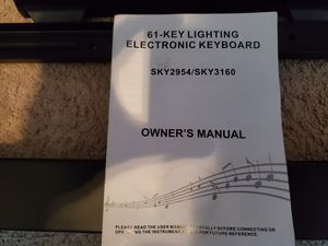61 key lightup keyboard with stand and stool. for Sale in NORTH PRINCE GEORGE, VA