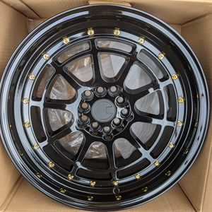 17x9 Aodhan 5x114.3 5x100 Gloss Black Wheels for Sale in Laurel, MD