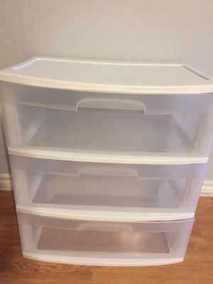 3 drawers plastic organizer for Sale in Burleson, TX