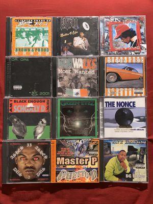Rap hip hop g funk gangsta rap rnb funk cds music for Sale in Santa Ana, CA