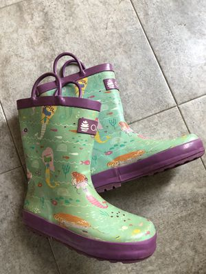 Kids girls rain boots mermaid size 13 for Sale in Troutdale, OR