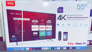 """Brand New TCL Roku 4K TV 55""""/65"""" in stock For as low as $39 down for Sale in Irving, TX"""