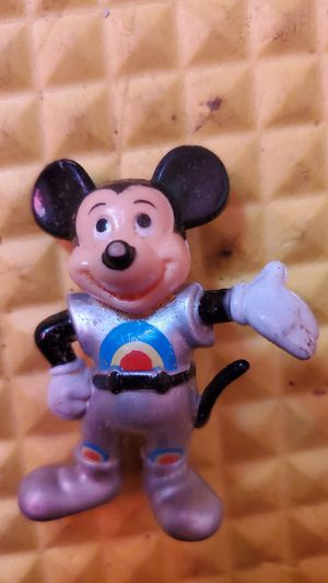 """Vintage 1980's Disney Epcot Mickey Mouse With Rainbow Suit Figurine 2"""" Tall for Sale in Houston, TX"""