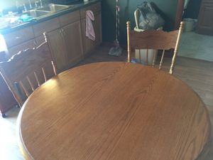 Oak kitchen table and for chairs for Sale in Taylor, PA