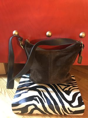 Coach Brown Suede Pocketbook with Matching Purse for Sale in Norwich, CT