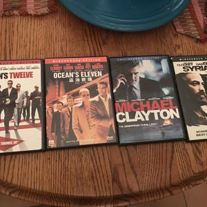 Own 4 GREAT GEORGE CLOONEY FILMS ON DVD for Sale in Long Beach, CA