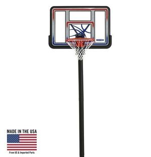 """Spalding NBA 54"""" Portable Angled Basketball Hoop with Polycarbonate Backboard for Sale in Houston, TX"""