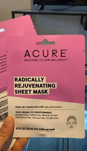 3 Acure Rejuvenating Single Use Face Masks for Sale in Ventura, CA