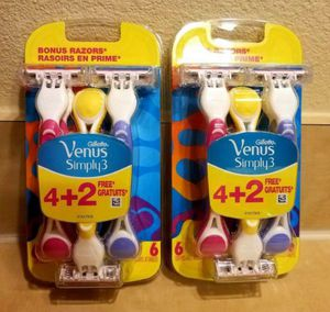 Gillette Venus Simply3 Disposable Razors for Sale in Raleigh, NC