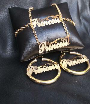 🚚💨I deliver🚀I Ship...😍😍14kt 💎Gold filled 💦 Necklace charm bracelet and earrings 🌟🌟🌟🌟🌟 for Sale in Fort Lauderdale, FL