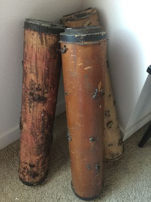 Antique Wallpaper Print Roller — EACH — Make a great lamp or keep for decor for Sale in Vancouver, WA