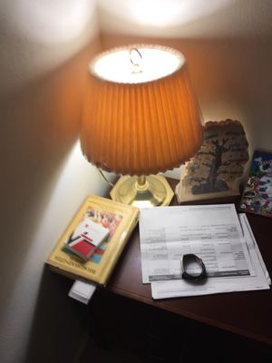 Table top lamp fir sale with white bulb for Sale in Yorktown, VA