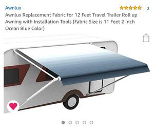 Travel trailer awning replacement fabric for Sale in Albuquerque, NM