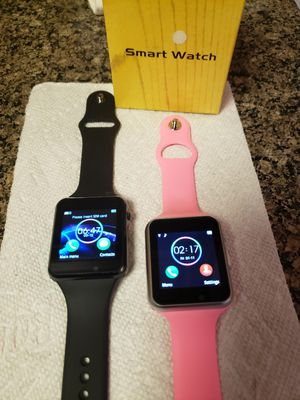 2 SMARTWATCHES FOR IPHONE AND ANDROID NEW NEVER BEEN USED FIRM PRICE,,,**HABLO ESPAÑOL for Sale in Fort Myers, FL