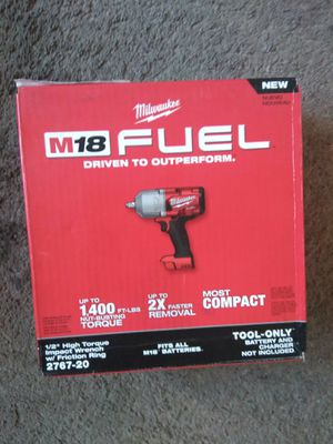 Milwaukee New HIGH IMPACT TORQUE WRENCH w/ Friction Ring (Brand New) M18/FUEL/Brushless. (2767 20) (tool only) Herramienta Nueva, No incluye batería for Sale in Los Angeles, CA