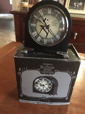 Nightmare Before Christmas - Wood Table Clock for Sale in Cypress, TX