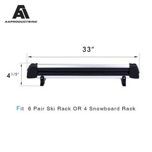33'' Aluminum Universal Ski Roof Rack Fits 6 Pairs Skis or 4 Snowboards, Ski Roof Carrier Fit Most Vehicles Equipped Cross Bars for Sale in Ontario, CA