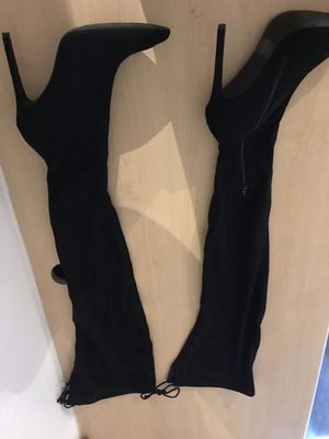 Black thigh high boots size 9 for Sale in Austin, TX