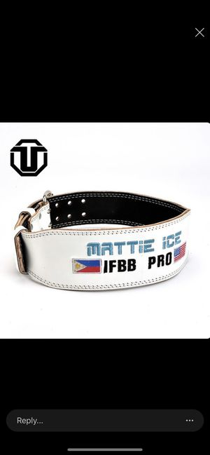 Ifbb pro Custom belts mens And woman's 100% leather any design ready in 4 weeks Place your order now Leather any Design or logo Mens and Women's for Sale in Charlotte, NC