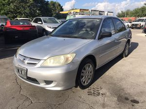 2005 Honda Civic lx clean title low miles for Sale in Miami, FL