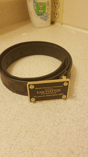 Original Louis Vuitton Damier Graphite Inventeur belt for Sale in Denver, CO