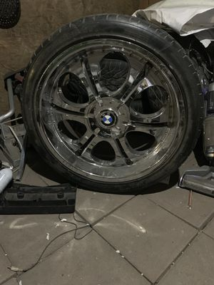 "22"" BMW rims with all 4 good tires for Sale in Fresno, CA"