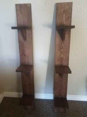 Wood Vertical Wall Shelves for Sale in Clovis, CA