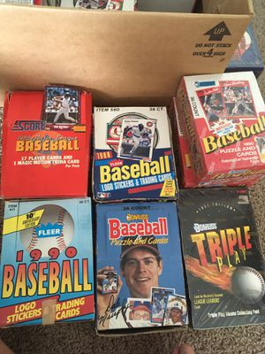 Baseball cards packs boxes for Sale in Hilliard, OH