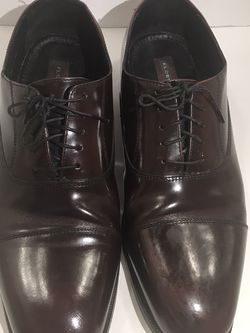 Florsheim Shoes Men's Size 12 Burgundy Cap Toe Oxfords Lace Up Leather for Sale in Austell,  GA