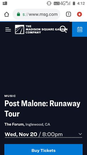 Post Malone tonight for Sale in Long Beach, CA