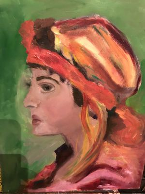 Oil on canvas painting Arab Lady for Sale in West McLean, VA