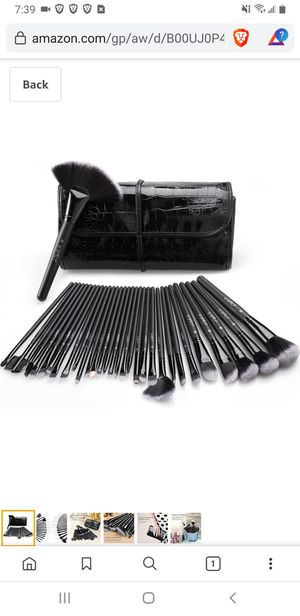 Makeup Brushes, USpicy 32 Pcs Premium Synthetic Professional Makeup Brushe Set Essential Cosmetics With Case, Face Eye Shadow Eyeliner Foundation for Sale in Tustin, CA