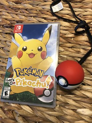 Let's Go Pikachu + poke ball for Sale in Tucson, AZ