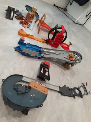 Disney Cars Hot Wheels Track Sets - take all for $20 total for Sale in Rancho Cucamonga, CA