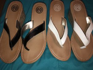 Flip flop wedges size 8 for Sale in Kissimmee, FL