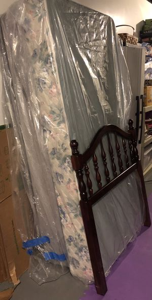 Twin size BED headboard, metal frame, etc for Sale in Gibsonia, PA