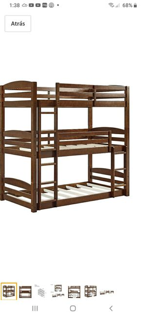 New in box triple bunk bed mattresses not included for Sale in Charlotte, NC