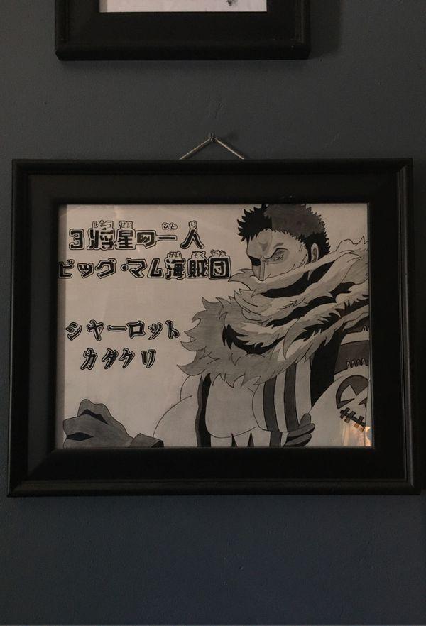 One piece anime Katakuri drawing