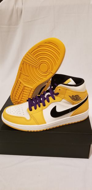 Jordan 1 Lakers Mid many sizes 8.5, 9, and 9.5 for Sale in Alexandria, VA