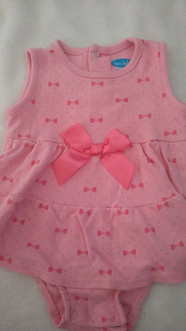 Baby dresses with ribbon bows
